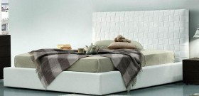 Made in Italy Leather Modern Platform Bed