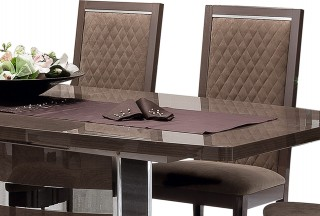 Unique Rectangular in Wood Modern Dining Set