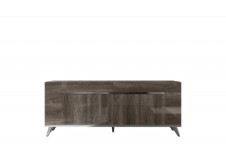 Exotic Rectangular in Wood Top Leather Dining Room Furniture