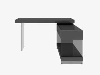 Modern Desk Furniture with Reflective Surfaces