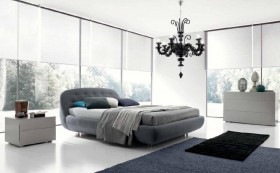 Made in Italy Nano Fabric Luxury Bedroom Furniture Sets