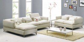 Fashionable Modern Microfiber Sectional