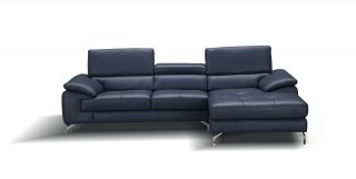 Adjustable Advanced Modern Leather L-shape Sectional