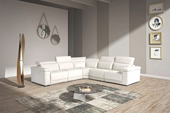 Elite Reclining Sectional Lounge with Adjustable Headrests