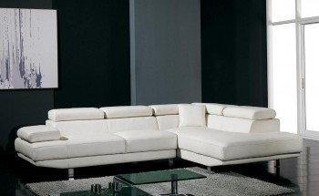 Adjustable Advanced Bonded Covered Sectional with Chaise