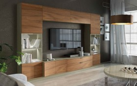 Modern Living Room Wall Unit with Entertainment Center