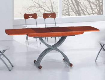 Stainless Steel Adjustable Base Extendable Dining Table