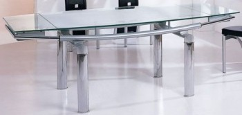 Contemporary 12 mm Tempered Glass Expandable Table