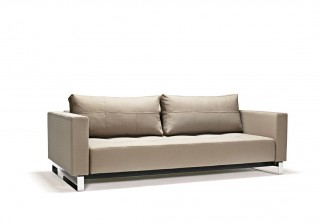Fabric Upholstered Contemporary Sofa Bed