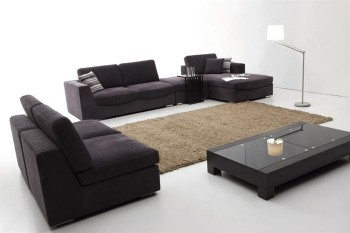Exquisite Quality Microfiber L-shape Sectional