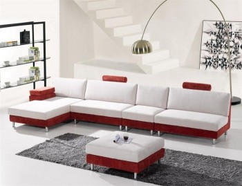 Extravagant Micro Suede L-shape Sofa Furniture