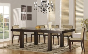 Contemporary Extendable 5 pc Dinner Set