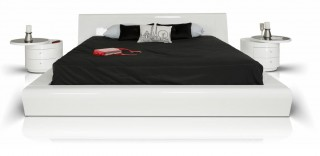 Lacquered Italian Quality Modern Platform Bed