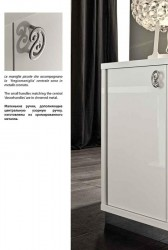 Two Door Curio in White Lacquer for Modern Dining
