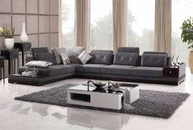 Elite Microfiber Sectional in Colors with Pillows