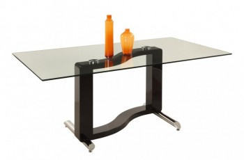 Rectangular Glass Top Dining Table S Base