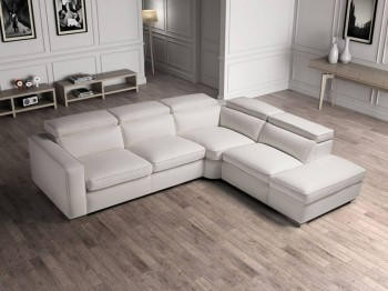 High End 100% Italian Leather Sectional