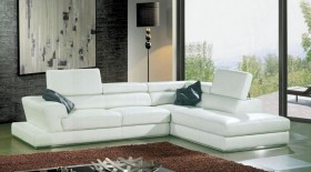 Refined Bonded Leather Sectional with Chaise