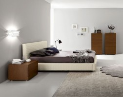 Lacquered Made in Spain Wood High End Platform Bed