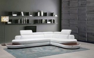 Exclusive 100% Italian Leather Sectional