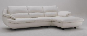 Luxury Full Leather Sectional with Chaise