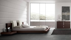 Made in Italy Wood Modern Master Bedroom Set with Headboard Pillows