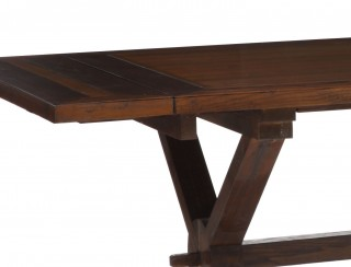 17TH Century Style Wooden Extendable Dining Table with X Legs