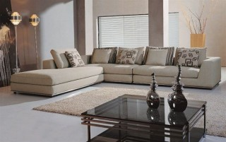 Stylish Mircofiber Sectional with Chaise