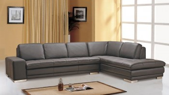Contemporary Style Full Leather Corner Couch