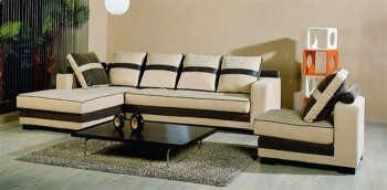 Unique Modern Microfiber Sectional