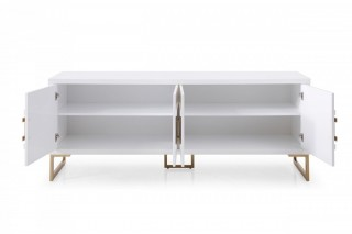 Contemporary Champagne White Buffet