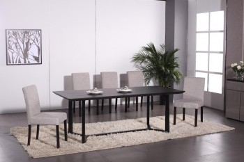 Stylish in Wood Leather Furniture Dining Set