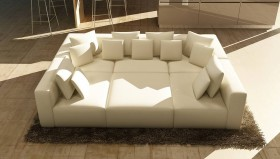 Overnice Designer Full Italian Sectional with Pillows