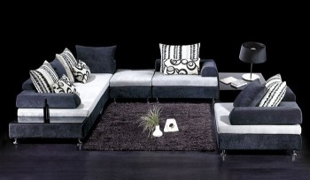 Exquisite Colorful Microfiber Sectional