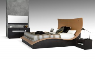 Overnice Leather Luxury Platform Bed