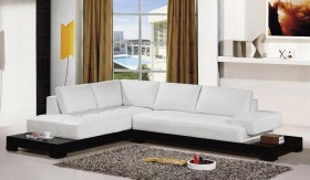 Extravagant Designer Half Leather Sectional