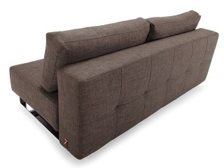 Comfy Dark Brown Contemporary Tufted Fabric Sofa Bed