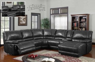 Traditional Style Sectional Sofa Set with Recliner