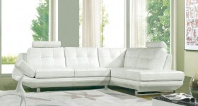 High End Tufted Half Real Leather Sectional
