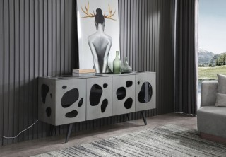 Modern Grey Buffet with Exquisite Design