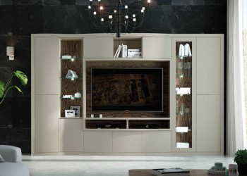 Elegant Wall Unit and Media Center