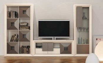 Modern Living Room Wall Unit and Entertainment Center
