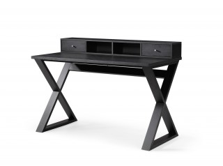 Modern Wenge Office Desk with Two Drawers