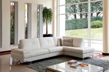Contemporary Quality Leather L-shape Sectional