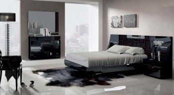 Made in Spain Wood Luxury Bedroom Furniture feat Light