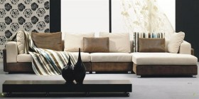 High-class Mircofiber Sectional with Chaise