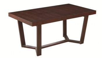 Flero Stunning Contemporary Design Brown Table with Extension Leaf