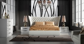 Stylish Leather Luxury Bedroom Furniture Sets