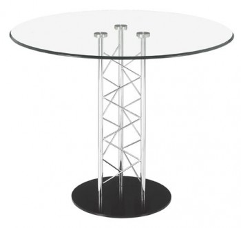 Chardonnay Dining Table with Black Painted Steel Base