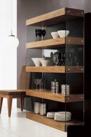 Dark and Light Four-level Shelf Display Unit in Brown